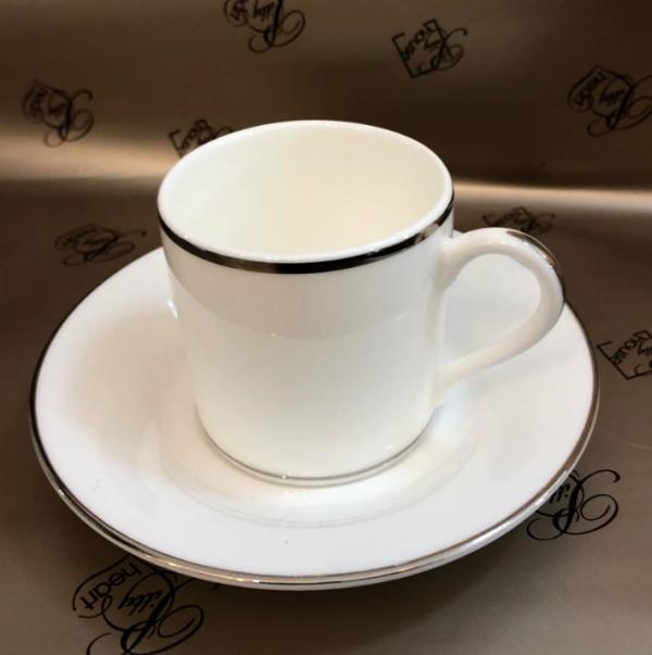 ANTINEA BORDO PLATINO BONE CHINA CAFFE' 15 PZ. RICHARD GINORI