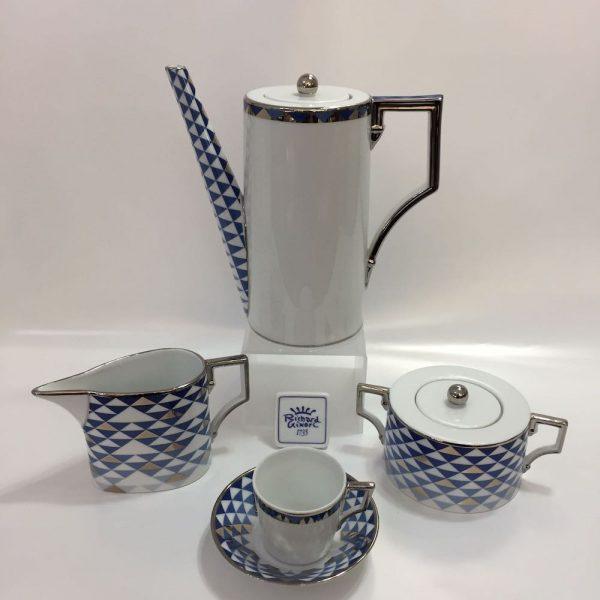 LUNA MOSAICO BLU' 01176 CAFFE' 15 PZ PORCELLANA RICHARD GINORI
