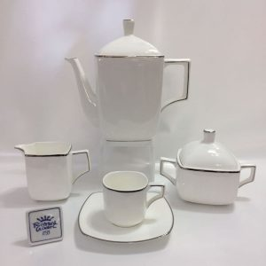 VELA BORDO PLATINO BONE CHINA CAFFE' 15 PZ RICHARD GINORI