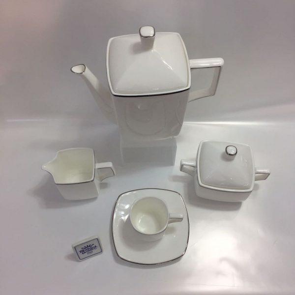 VELA BORDO PLATINO BONE CHINA CAFFE' 15 PZ RICHARD GINORI