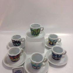 TAZZE CAFFE PZ. 6 PORCELLANA RICHARD GINORI