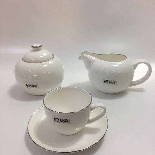 CAFFE' PLATINUM RIM BONE CHINA BITOSSI