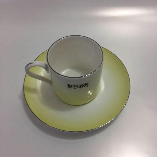 TAZZE CAFFE' BONE CHINA YELLOW LAGUNA BITOSSI