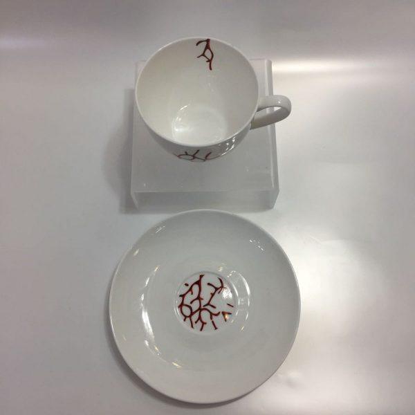 TAZZE CAFFE' CORAL BONE CHINA BITOSSI